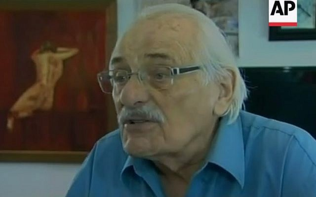 Samuel Willenberg, the last living survivor of the Treblinka death camp (YouTube screenshot)