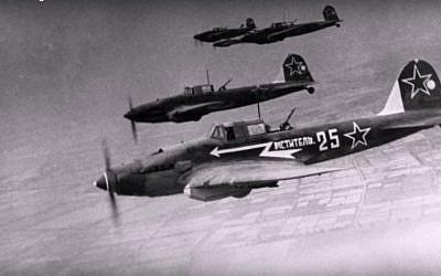 An Illustrative image of WWII-era Soviet bomber planes. (screen shot: YouTube)