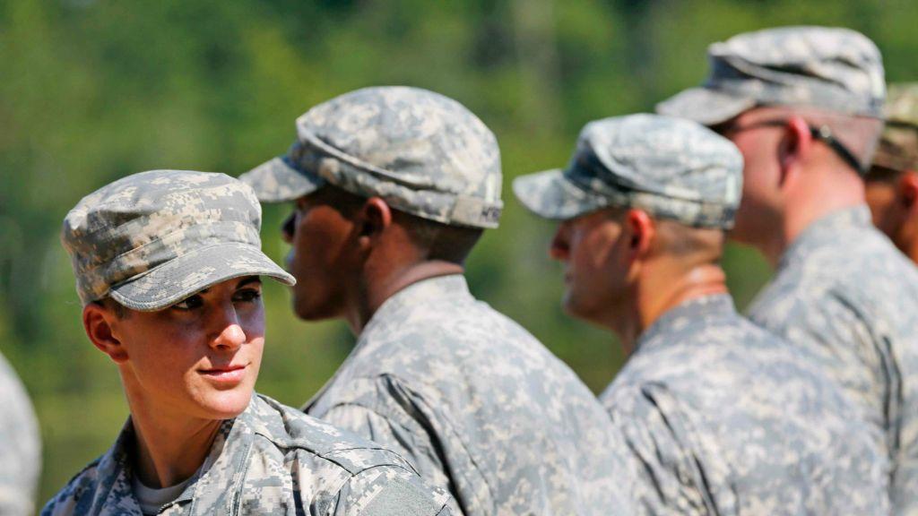 US Army Captain Kristen Griest Of Orange Connecticut Left Smiles As She