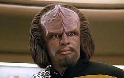 Star Trek Klingon character Lieutenant Worf (Courtesy)