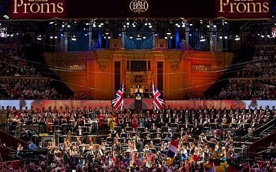 A performance on stage during the last night of the Proms at The Royal Albert Hall in west London, September 12, 2015. (AFP/JUSTIN TALLIS)