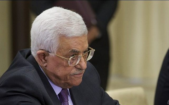 President of the Palestinian Authority Mahmud Abbas, September 22, 2015. (AFP/POOL/IVAN SEKRETAREV)