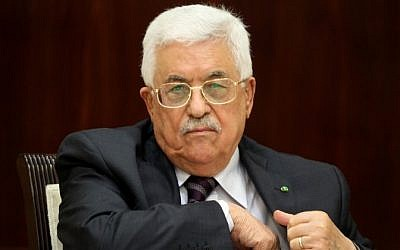 Palestinian Authority President Mahmoud Abbas chairs a meeting of the Executive Committee of the Palestine Liberation Organization in the West Bank city of Ramallah on September 1, 2015. (AFP/Abbas Momani)