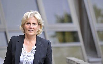 French member of the European parliament Nadine Morano on September 7, 2015 (AFP PHOTO / JEAN-CHRISTOPHE VERHAEGEN)