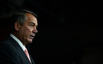 House Speaker John Boehner announces his resignation during a press conference on Capitol Hill September 25, 2015 in Washington, DC.(Astrid Riecken/Getty Images/AFP)