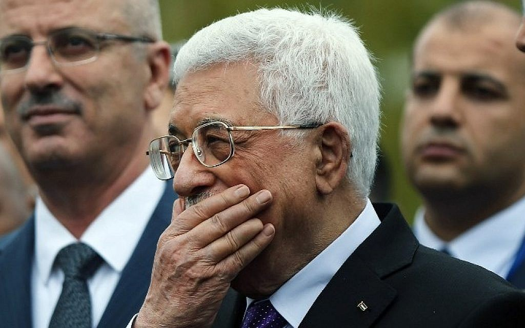 Palestinian Authority President Mahmoud Abbas at the United Nations headquarters on September 30, 2015 in New York City (Spencer Platt/Getty Images/AFP)