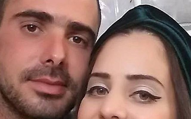 Amir Ohana and his wife Meital. Ohana's body was found September 19, 2015 in a lake in Uman, Ukraine,  four days after he went missing during the annual pilgrimage to Rabbi Nachman's grave. (Courtesy)