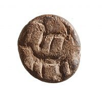 A cone-shaped seal found in rubble excavated from the Temple Mount believed to date to around the 10th century BCE (Zachi Dvira, Temple Mount Sifting Project)