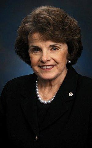 US Senator Dianne Feinstein (photo credit: Wikimedia Commons/Public domain)