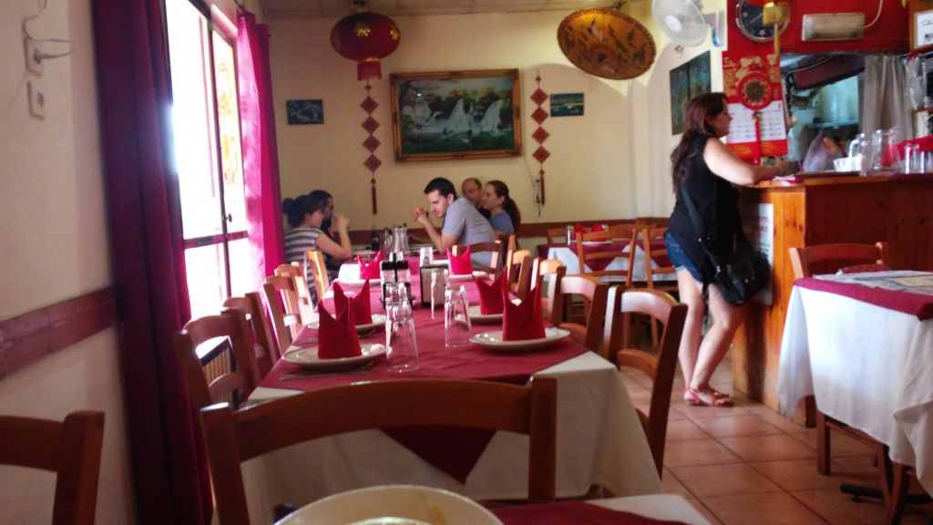 Inside the Peh-Hai Chinese Restaurant (Simona Weinglass/Times of Israel)