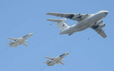 Sukhoi-24 aircraft trailing an Ilyushin Il-78 in a photo taken in 2009. (CC BY-SA Dmitry Terekhov, Flickr)