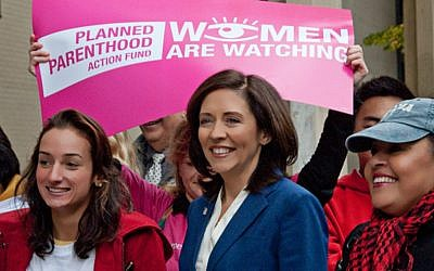 Senator Maria Cantwell (D-Washington) at a 2012 rally in Seattle. (Flickr/CarlB104/CC BY 2.0)