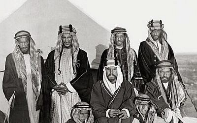 """King Abdulaziz """"Ibn Saud"""" (center) his with his brothers and sons. (Photo: CC-BY Tribes of the World, Flikr)"""