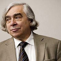 US Energy Secretary Ernest Moniz at the daily briefing of the White House in Washington, DC, July 31, 2015 (AP/Pablo Martinez Monsivais)