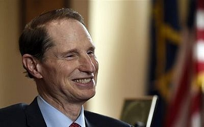 Sen. Ron Wyden, D-Ore, speaks during an interview with the Associated Press in his office on Capitol Hill in Washington, Wednesday, May 13, 2015. Wyden is playing a leading role in some of Congress' toughest debates. The three-term senator is the chief Democratic negotiator on trade legislation that would allow President Barack Obama to negotiate an historic accord with 11 Pacific Rim nations. (AP Photo/Susan Walsh)