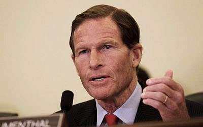 Sen. Richard Blumenthal, D-Conn., in Capitol Hill in Washington, Wednesday, July 15, 2015. (Lauren Victoria Burke/AP)