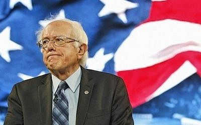Democratic presidential candidate Sen. Bernie Sanders looks over the crowd during a speech at Liberty University in Lynchburg, Va., Monday, Sept. 14, 2015. (AP Photo/Steve Helber)