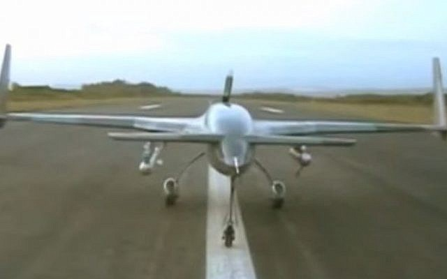Screen capture of video footage of the Pakistan developed Burraq drone. (YouTube/Dunya News)