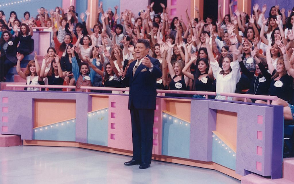 """Don Francisco — born Mario Luis Kreutzberger Blumenfeld — in front of a live audience on his record-making show, """"Sabado Gigante,"""" in the 1990s. (Courtesy of Univision/JTA)"""