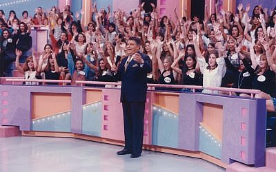 "Don Francisco — born Mario Luis Kreutzberger Blumenfeld — in front of a live audience on his record-making show, ""Sabado Gigante,"" in the 1990s. (Courtesy of Univision/JTA)"