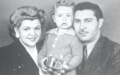 Kreutzberger with his parents, German Jews who fled the Nazis for Chile, where he was born in 1940. (Courtesy of Univision/JTA)