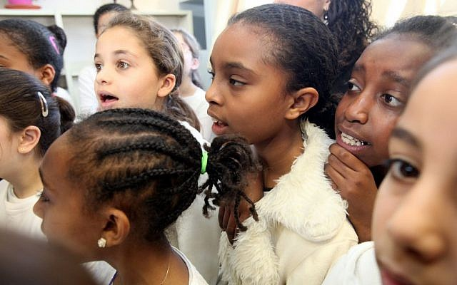 Ethiopian students at the Bereshit school in Jerusalem  in 2012. Not suspects. (Yossi Zamir/Flash 90)