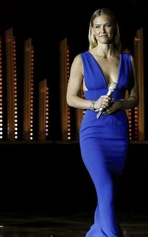 Israeli model Bar Refaeli in Jerusalem, June 18, 2015. (Marc Israel Sellem/POOL.)