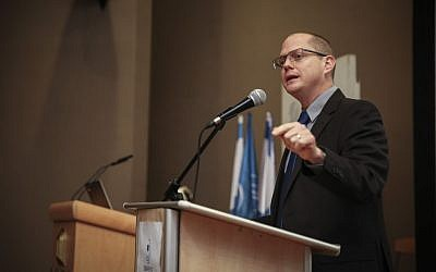Oded Forer at the Begin Heritage Institute, Jerusalem, February 22, 2015. (Hadas Parush/Flash90