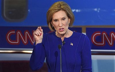 Republican presidential candidate, businesswoman Carly Fiorina speaks during the CNN Republican presidential debate at the Ronald Reagan Presidential Library and Museum on Wednesday, Sept. 16, 2015, in Simi Valley, Calif. (AP Photo/Mark J. Terrill)
