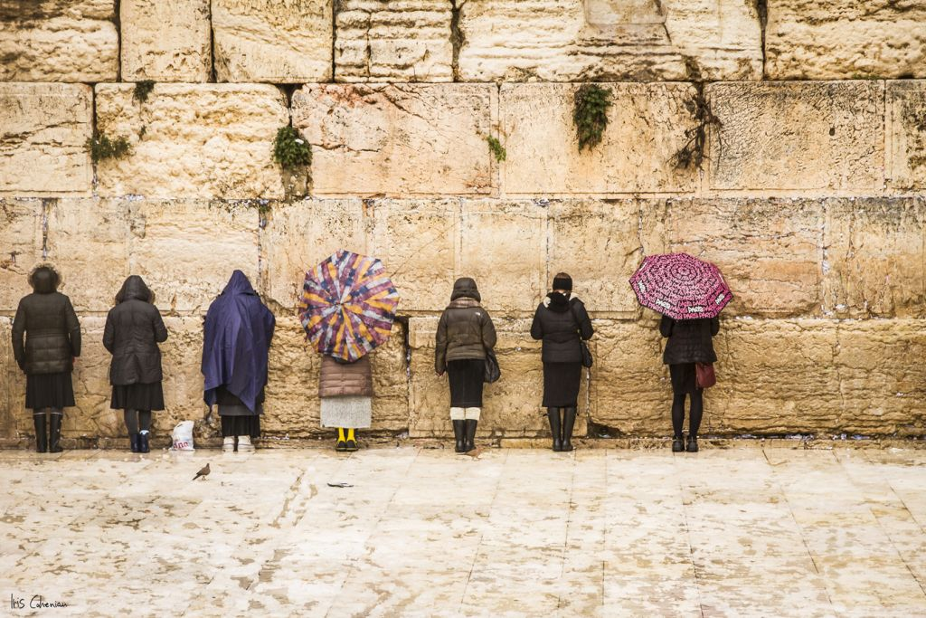 The Western Wall In Jerusalem By Iris Cohenian, One Of Many Prints Sold By  Israel