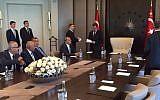 Arab MKs in Istanbul ahead of a meeting with Turkish President Recep Tayyip Erdogan on September 21, 2015. (Joint Arab List)