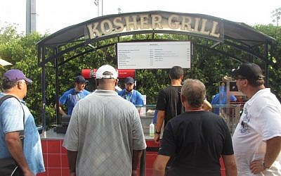 Kosher Grill owner Jonathan Katz founded Kosher Sports Inc., which operates concession stands in Baltimore, Philadelphia, Chicago, Detroit, Miami and elsewhere. His company has even provided kosher food at the Super Bowl. (Howard Blas/The Times of Israel)