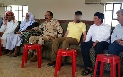 CYCI mediator sits with Yazidi and Kurdish officials in this July/August 2015 photo. (courtesy: Steve Maman)
