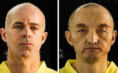 Combination of undated photos purports to show Ole Johan Grimsgaard-Ofstad, 48, from Oslo, Norway, left, and Fan Jinghui, 50, from Beijing, China. The pictures came from the terror group's online magazine Dabiq, Wednesday, Sept. 9, 2015. (Dabiq via AP)