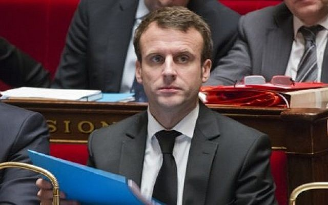 French Economy Minister Emmanuel Macron attends a session of the French National Assembly in Paris, February 17, 2015. (AP/Jacques Brinon)