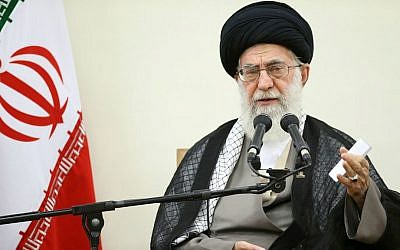 In this picture released by official website of Ayatollah Ali Khamenei's office on Thursday, Sept. 3, 2015, he is seen speaking in a meeting with members of Iran's Experts Assembly in Tehran, Iran. (Office of the Iranian Supreme Leader via AP)