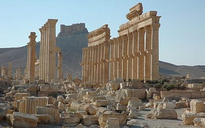 This undated image released by UNESCO shows the site of the ancient city of Palmyra in Syria. A satellite image on Monday, Aug. 31, 2015 shows that the main building of the ancient Temple of Bel in the Syrian city of Palmyra has been destroyed, a United Nations agency said. (Ron Van Oers, UNESCO/AP)