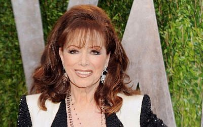 In this Feb. 24, 2013 file photo, author Jackie Collins arrives at the 2013 Vanity Fair Oscars Viewing and After Party in West Hollywood, Calif. (Evan Agostini/Invision/AP, File)