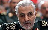 Iranian Revolutionary Guards al-Quds Force commander Maj. Gen. Qassem Soleimani.(YouTube screenshot)