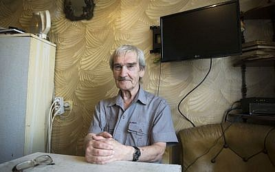 Former Soviet missile defense forces officer Stanislav Petrov poses for a photo at his home in Fryazino, Moscow region, Russia. On Sept. 26, 1983, despite the data coming in from the Soviet Union's early-warning satellites over the United States, Petrov, a Soviet military officer, decided to consider it a false alarm. If he had decided otherwise, the Soviet leadership could have responded by ordering a retaliatory nuclear strike on the United States. (AP Photo/Pavel Golovkin)