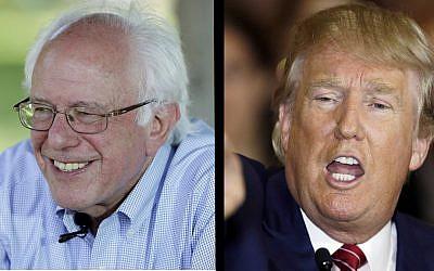 Bernie Sanders and Donald Trump (Charlie Neibergall/AP; Mark Lennihan/AP)