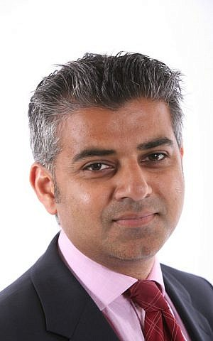 The British Labour Party's candidate for mayor of London, Sadiq Khan. (public domain via wikipedia)