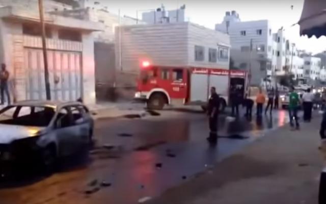 Clashes in Hebron, September 3, 2015 (YouTube screenshot)