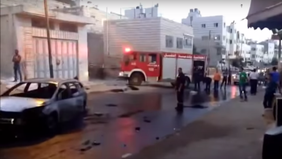 Clashes in Hebron, September 3, 2015 (YouTube screenshot)