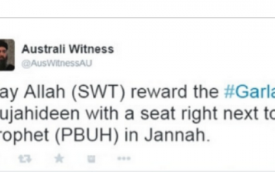 An 'Australi Witness' tweet
