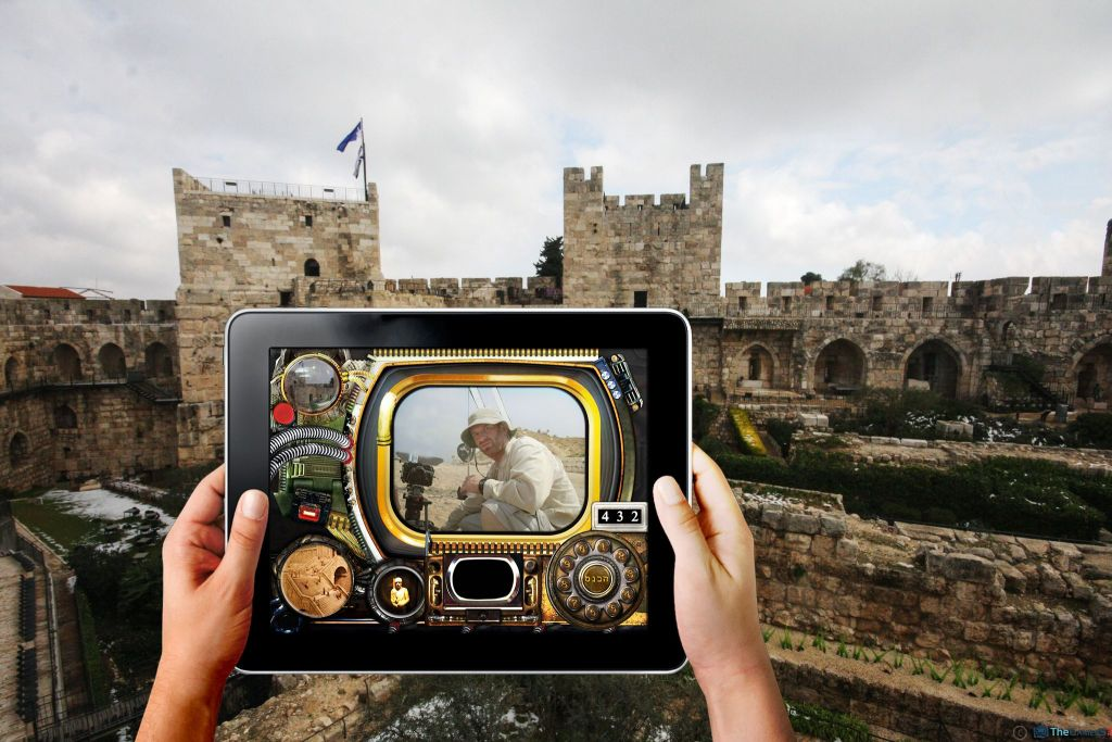 'Swipe the Citadel,' one of the new apps and games featured at the Tower of David Museum, which is looking to appeal to younger visitors (Courtesy Tower of David Museum)