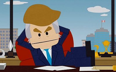 """South Park launched a graphic attack on US presidential hopeful Donald Trump in its episode """"Where has my country gone"""" that aired on Comedy Central on September 23, 2015. (screenshot: YouTube)"""