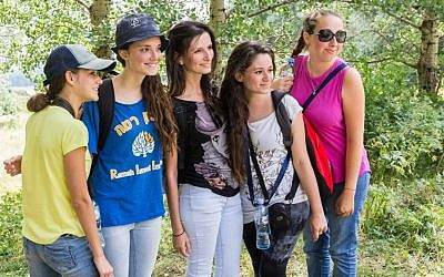 Illustrative: some participants in the Tchelet summer camp. (Eliyahu Yurovsky/JTA)