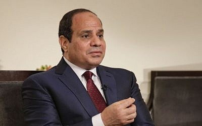 File: Egyptian President Abdel-Fattah el-Sissi in a media interview in New York, Saturday, Sept. 26, 2015. (AP/Julie Jacobson)