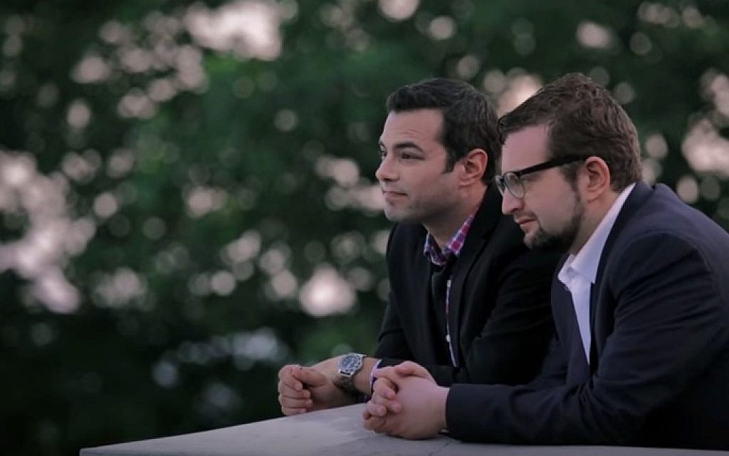 Chaimie (Jamie Elman) and Leizer (Eli Batalion) continue to ponder tensions between Jewish tradition and secular society in season 2 of 'YidLife Crisis.' (YouTube)